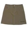 Fairy Powder FP19-2201 Check Back Pleats Skirt Khaki