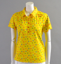 ILicca Golf IG17-2100  Print Polo Yellow