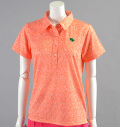 2017 Fairy Powder FP17-2105 Flower Print Polo Orange