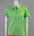 2017 Fairy Powder FP17-2105 Flower Print Polo Green