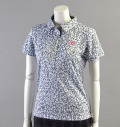 2018 Fairy Powder FP18-2105 Damask Print  Mesh Polo Black