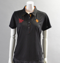 2018 Fairy Powder FP18-2108 Argyle Mesh Polo Black