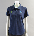 2018 Fairy Powder FP18-2108 Argyle Mesh Polo Navy