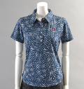 2018 Fairy Powder FP18-2110 Flower Print Polo Navy