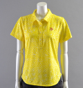 2018 Fairy Powder FP18-2110 Flower Print Polo Yellow
