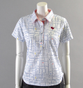 2018 Fairy Powder FP18-2111 FP Logo Check Print Polo White