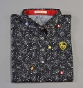 Fairy Powder FP19-2108 Women's Circus Print Polo Black