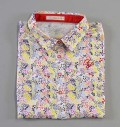 Fairy Powder FP19-2110 Women's Flower Print Polo White