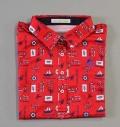 Fairy Powder FP19-2106 Women's Marine Print Polo Red