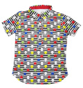 ILicca Golf IG19-2100 Women's Border & Dots Print BD Polo White