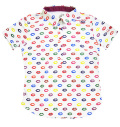 ILicca Golf IG19-2101 Women's Lips Print Polo White