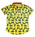 ILicca Golf IG19-2102 Women's Panther Print Polo Yellow