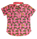 ILicca Golf IG19-2102 Women's Panther Print Polo Pink