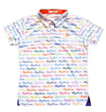 Fairy Powder FP20-2107 Women's FP Logo Print Polo White