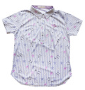 Fairy Powder FP20-2110 Women's Star & Stripe Print Polo White