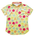 Fairy Powder FP20-2112 Women's Fruit Basket Print Polo Yellow