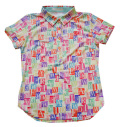 Fairy Powder FP20-2105 Women's Multi Stamp Pattern Print Polo Yellow