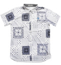 Fairy Powder FP20-2111 Bandana Print Polo White/Navy