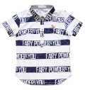 Fairy Powder FP20-2116 Women's FP Border Print Polo White