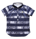 Fairy Powder FP20-2116 Women's FP Border Print Polo Navy