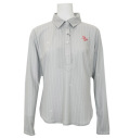 Fairy Powder FP20-6100 Women's Long Sleeve Print Polo Gray