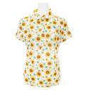 Fairy Powder FP21-2116 Women's Sunflower Print Polo White