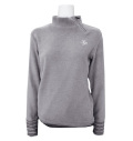 Fairy Powder FP21-6101B Women's Zip Neck Shirts Gray