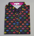 ILicca Golf IG19-1101 Lips Print Polo Black