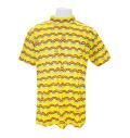 ILicca Golf IG21-1100 Women's Rainbow Border Mock Neck Shirts Yellow