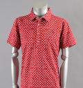2017 Fairy Powder FP17-1113 Leaf Print Polo Red