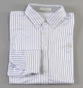 Fairy Powder FP18-5100 Stripe Long Sleeve Polo White
