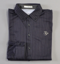 Fairy Powder FP18-5100 Stripe Long Sleeve Polo Navy