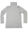 Fairy Powder FP19-5102A Border Turtle-Neck Shirts Gray
