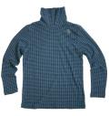 Fairy Powder FP19-5102B Hound-tooth Turtle-Neck Shirts Blue