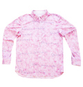 Fairy Powder FP20-1100 Long Sleeve Print Polo Pink