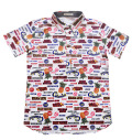 Fairy Powder FP20-1104 Fruit Juice Print Polo White