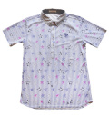 Fairy Powder FP20-1110 Star & Stripe Print Polo White