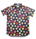 Fairy Powder FP20-1112 Fruit Basket Print Polo Navy