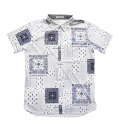 Fairy Powder FP20-1111 Bandana Print Polo White/Navy
