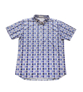 Fairy Powder FP20-1108 Diamond Pattern Print Polo Blue