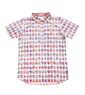 Fairy Powder FP20-1106 Emblem Pattern Print Polo White