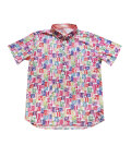 Fairy Powder FP20-1105 Multi Stamp Pattern Print Polo White