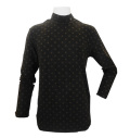 Fairy Powder FP20-5101C Dots Hi-Neck Shirts Black