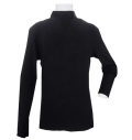 Fairy Powder FP20-5101A Diamond Pattern Hi-Neck Shirts Black