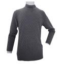 Fairy Powder FP20-5101A Diamond Pattern Hi-Neck Shirts Gray