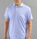 RLX Feed Stripe Airflow Polo Blue Rain/White