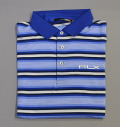 RLX Stripe Jersey Polo West Indies Blue