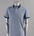 AG Green Label GIBSON POLO HEATHER NAVAL BLUE