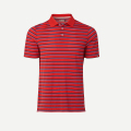 KJUS MEN LUIS MULTICOLOR STRIPE POLO S/S JUNGLE RED