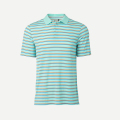 KJUS MEN LUIS MULTICOLOR STRIPE POLO S/S ICE BLUE